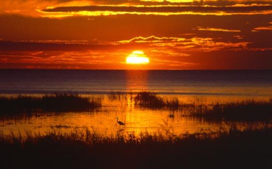 39-4-6 - Saginaw Bay Sunset. Sand Point, MI.