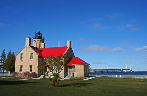 D-LH-268 - Old Mackinac Point Lighthouse. Mackinaw City, MI.