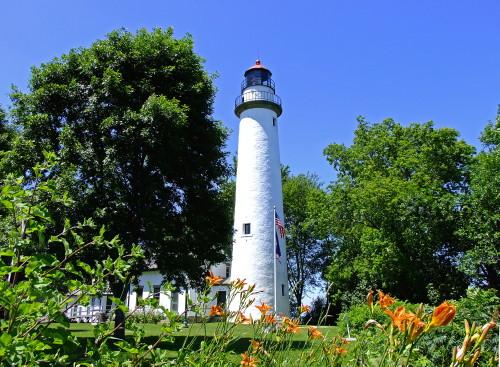 D-LH-392 - Pte. Aux Barques Lighthouse. Lighthouse County Park. Port Hope, MI.