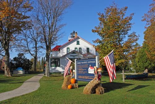 D-LH-494 - Grand Traverse Lighthouse. Leelanau State Park. Northport, MI.
