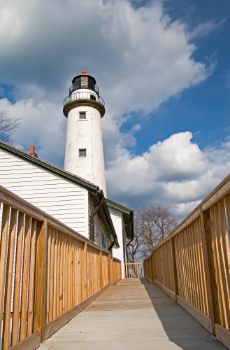 D-LH-707 - Pte. Aux Barques Lighthouse. Lighthouse County Park. Port Hope, MI.
