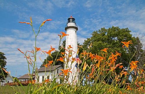 D-LH-720 - Pte. Aux Barques Lighthouse. Lighthouse County Park. Port Hope, MI.