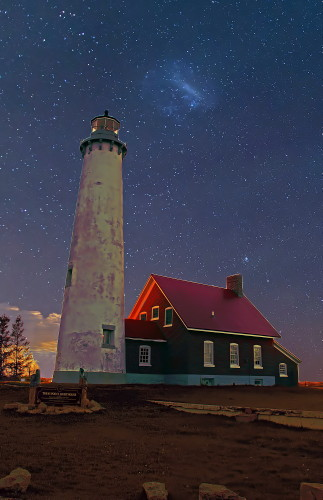 D-LH-763 - Tawas Point Lighthouse, Tawas State Park, Tawas City, MI. Digitally enhanced.