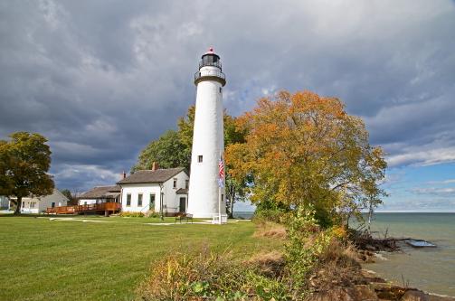 D-LH-787 - Pte. Aux Barques Lighthouse. Lighthouse County Park. Port Hope, MI.