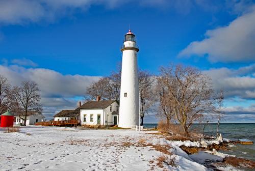 D-LH-796 - Pte. Aux Barques Lighthouse. Lighthouse County Park. Port Hope, MI.