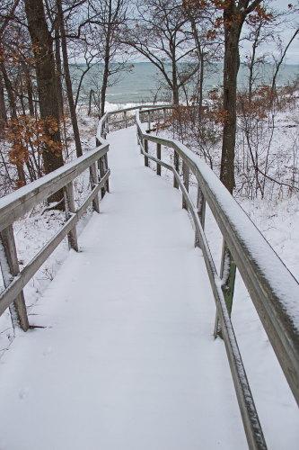 D-RP-177 - Boardwalk leading to Lake Huron. Sleeper State Park. Caseville, MI.