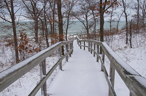 D-RP-179 - Boardwalk leading to Lake Huron. Sleeper State Park. Caseville, MI.