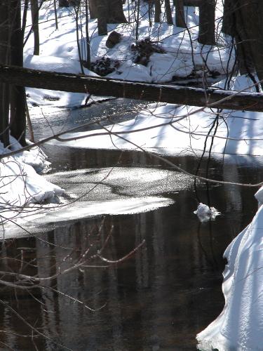 D-16-19 - Wintry River Scene along the  Pinnebog River. Bad Axe, MI.